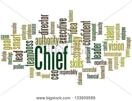 Chief, Word Cloud Concept