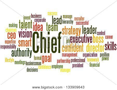Chief, Word Cloud Concept 2