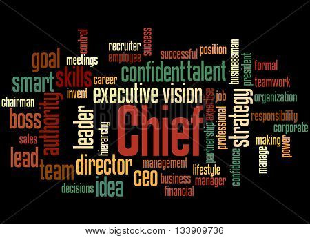 Chief, Word Cloud Concept 6