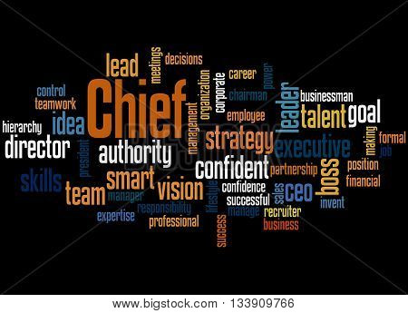Chief, Word Cloud Concept 7