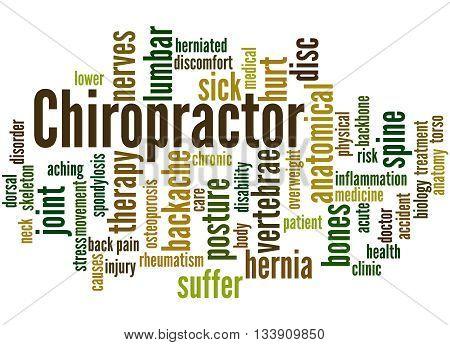 Chiropractor, Word Cloud Concept