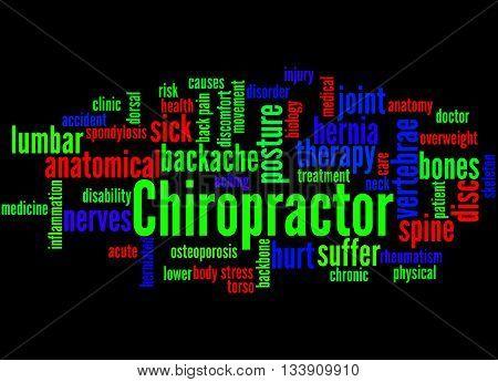 Chiropractor, Word Cloud Concept 3