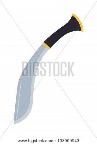 Crime military knife isolated on white background. Military crime knife weapon blade isolated and steel metal sharp military knife. Danger war edge equipment military knife.