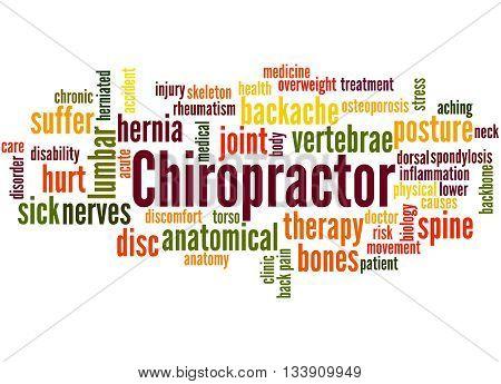 Chiropractor, Word Cloud Concept 4