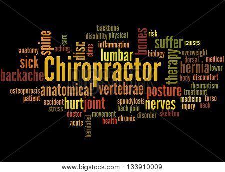 Chiropractor, Word Cloud Concept 7