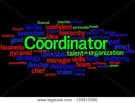 Coordinator, Word Cloud Concept 2