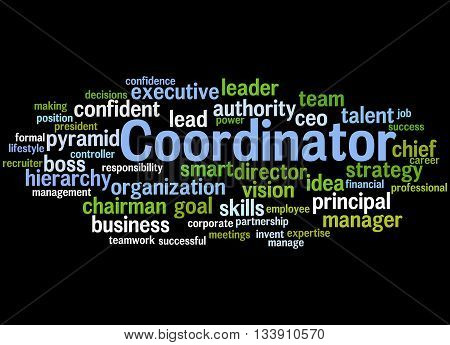 Coordinator, Word Cloud Concept 7