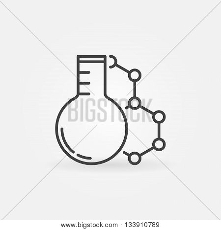 Laboratory glass with molecule icon. Vector chemistry concept symbol or logo element