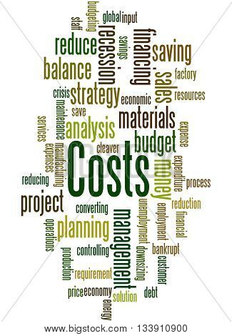 Costs, Word Cloud Concept 8