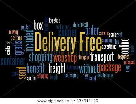 Delivery Free, Word Cloud Concept 5
