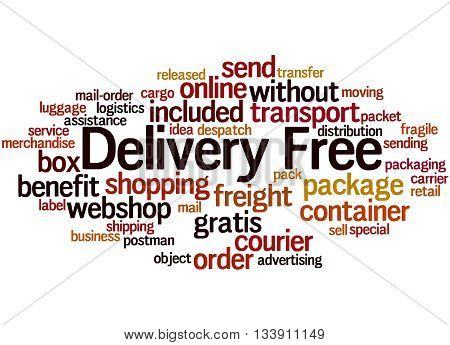 Delivery Free, Word Cloud Concept 7