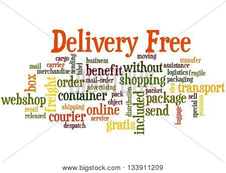 Delivery Free, Word Cloud Concept 8