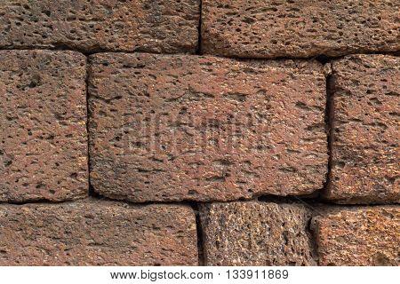 Acient brick wall. Grunge brick wall background. Background of old vintage brick wall