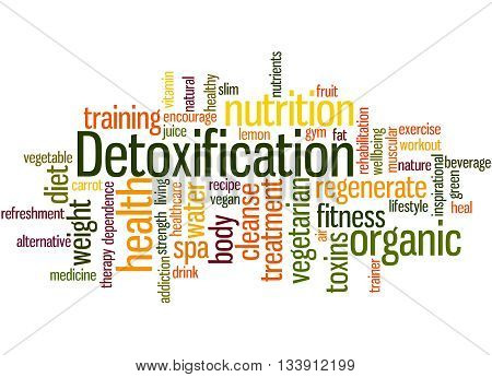Detoxification, Word Cloud Concept 3