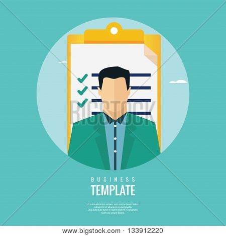 Vector illustration of job candidate assessment concept