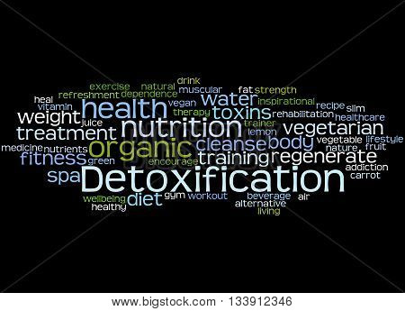 Detoxification, Word Cloud Concept 5