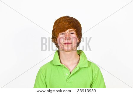 Attractive Boy In Puberty With Red Hair