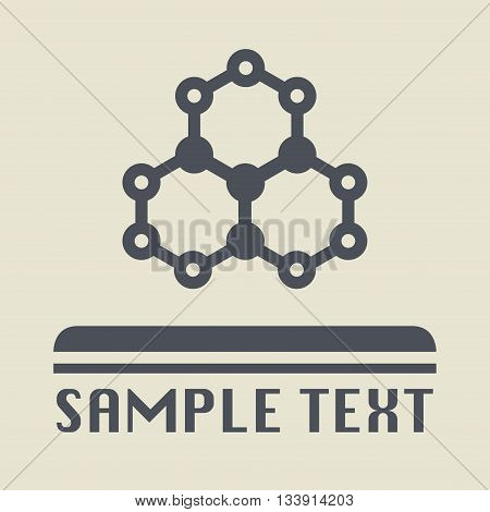 Abstract Biology icon or sign, vector illustration