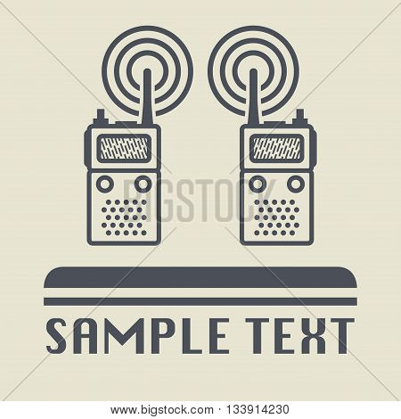 Mobile radio icon or sign, vector illustration