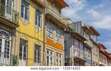 Colorful Tiles On Houses In Guimaraes