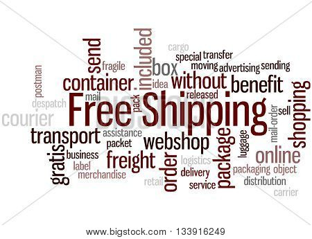 Free Shipping, Word Cloud Concept