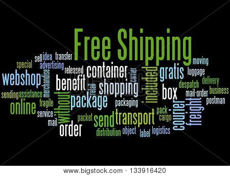 Free Shipping, Word Cloud Concept 6
