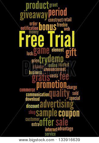 Free Trial, Word Cloud Concept 4