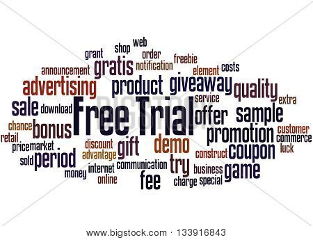 Free Trial, Word Cloud Concept 7