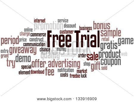 Free Trial, Word Cloud Concept 9