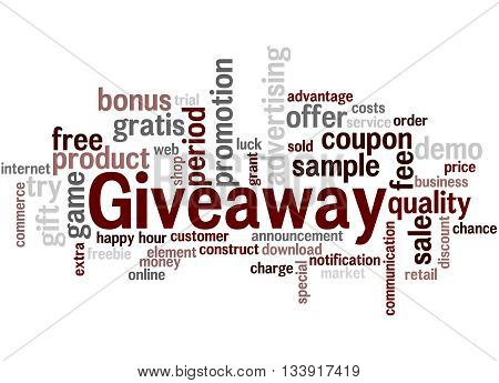 Giveaway, Word Cloud Concept
