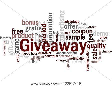 Giveaway, Word Cloud Concept