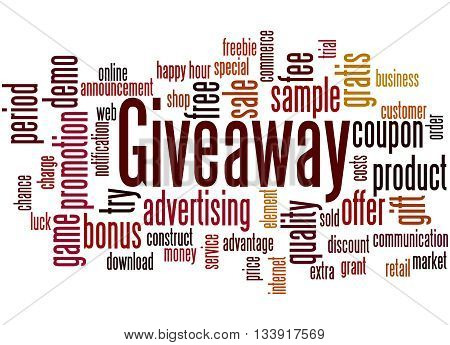 Giveaway, Word Cloud Concept 5