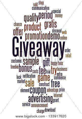Giveaway, Word Cloud Concept 6