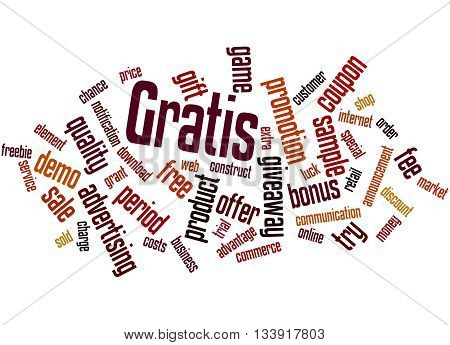 Gratis, Word Cloud Concept