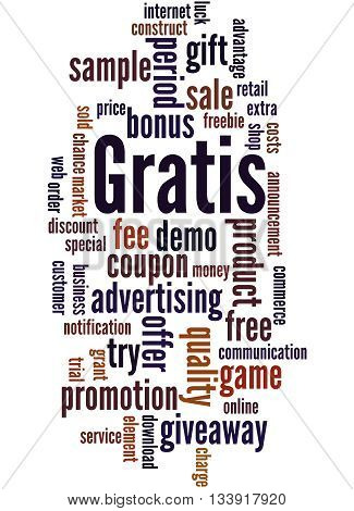 Gratis, Word Cloud Concept 4