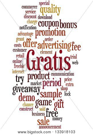 Gratis, Word Cloud Concept 9