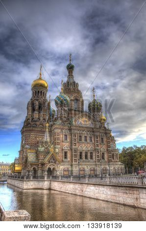Church Of The Savior On Spilled Blood In Sankt Petersburg