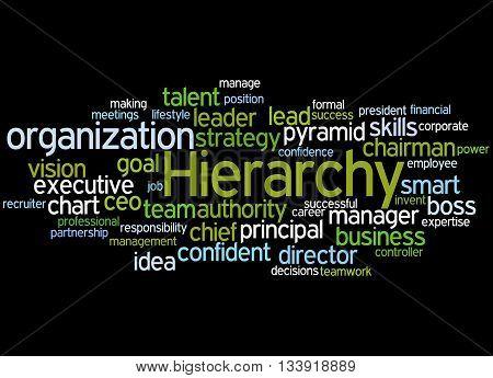 Hierarchy, Word Cloud Concept 5