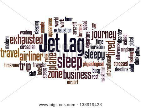 Jet Lag, Word Cloud Concept 5