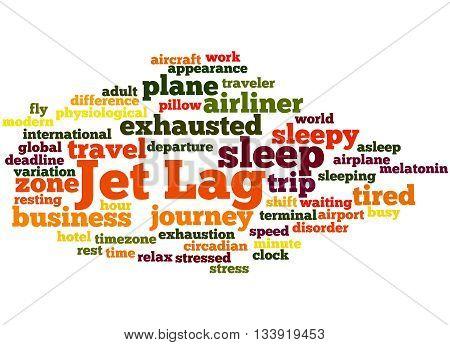 Jet Lag, Word Cloud Concept 6