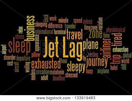 Jet Lag, Word Cloud Concept 7