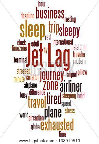 Jet Lag, Word Cloud Concept 9