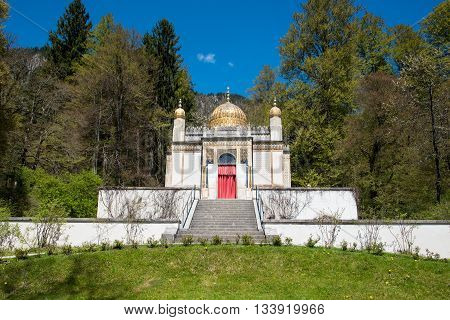 The Moorish Kiosk At The Linderhof Palace In Germany