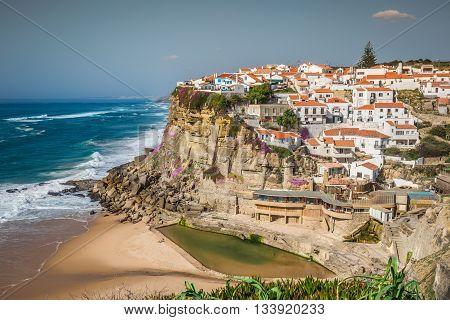 Azenhas do Mar Portugal coastal town Europe .