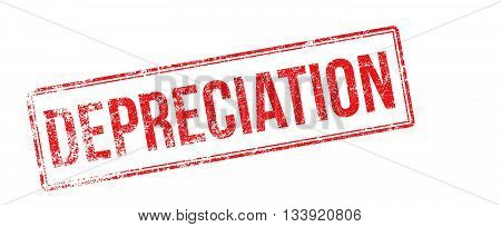 Depreciation Red Rubber Stamp On White