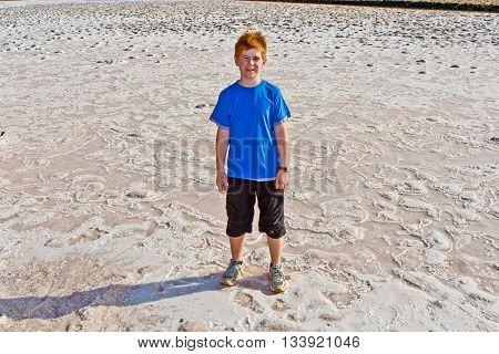 Young Boy In The Salinas De Janubio