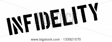 Infidelity Black Rubber Stamp On White