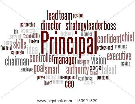Principal, Word Cloud Concept