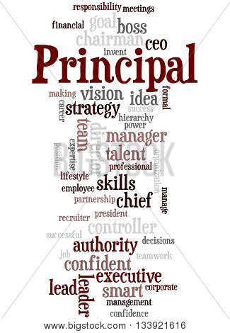 Principal, Word Cloud Concept 3