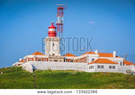 Lighthouse at Cabo da Roca Portugal Europe .